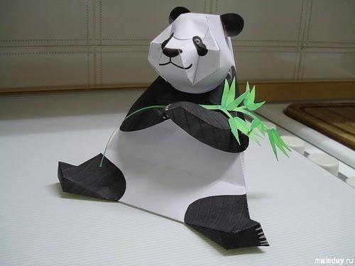 Бумажная игрушка - панда